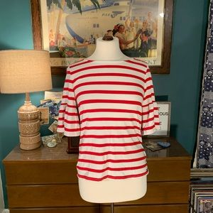 Red and White Striped Talbots Shirt